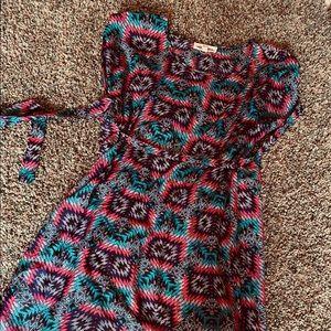 Aztec Short Tie Dress